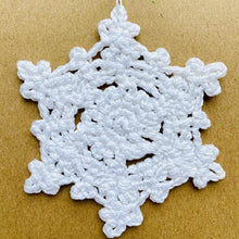 Load image into Gallery viewer, Crochet Christmas Snowflake Decoration