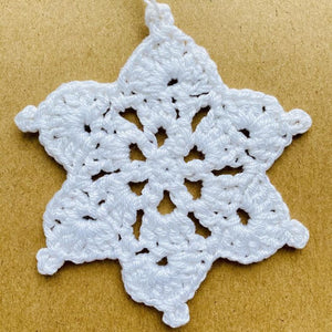 Crochet Christmas Snowflake Decoration