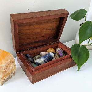 Wooden Keepsake Box - Moon and Stars