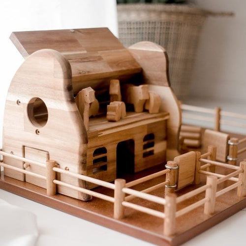 Wooden Farm and Barn Playset