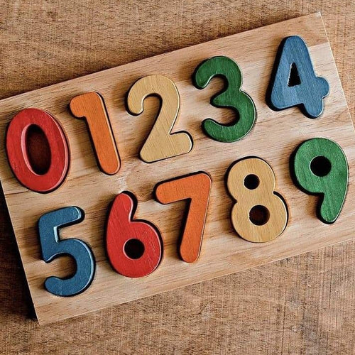 Wooden Number Puzzle - Coloured