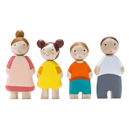 Wooden Dolls - The Leaf Family