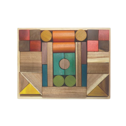 Natural Wooden Blocks - Colour