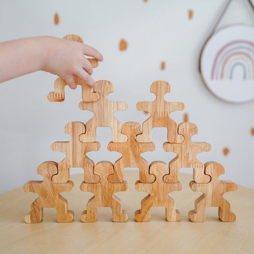 Wooden Balancing People