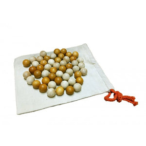 Set of 50 Wooden Balls - Natural