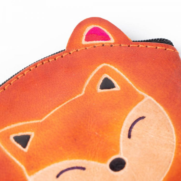 Leather Coin Purse - Fox