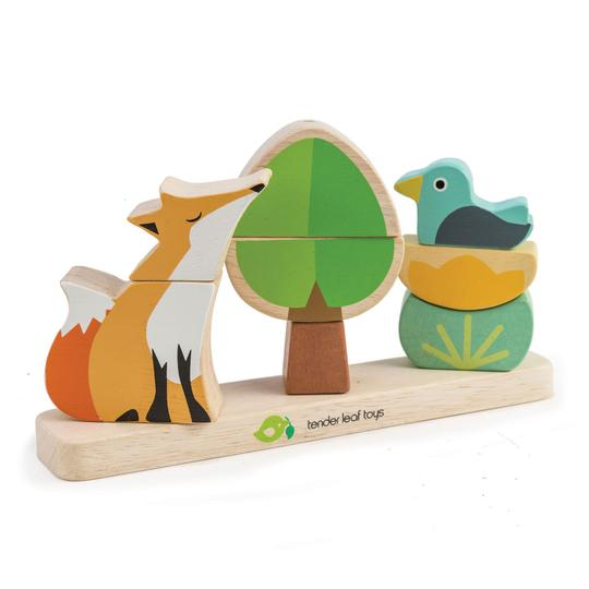 Wooden Fox Magnetic Stacker