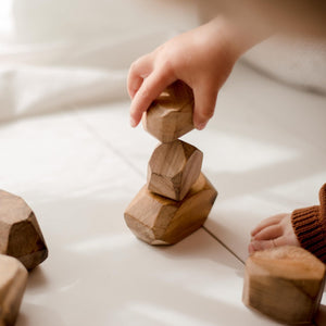 Natural Wooden Gem Blocks