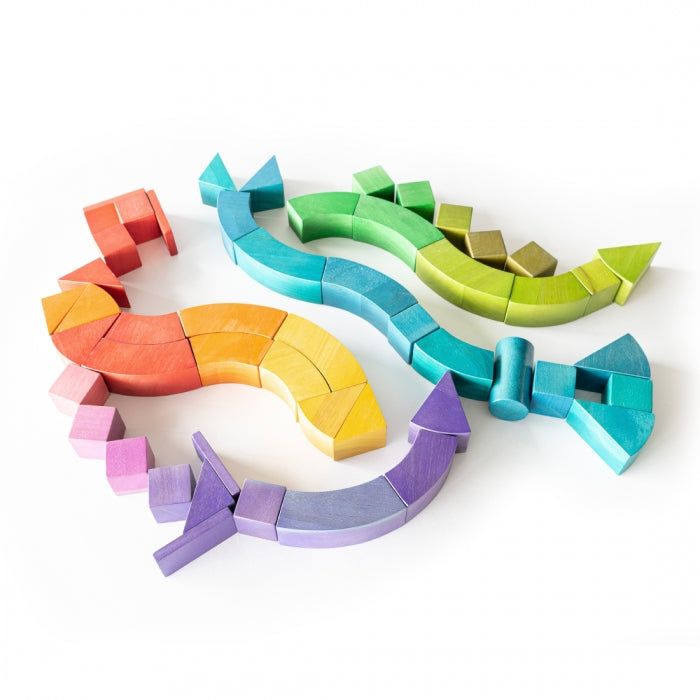 Jumbo Wooden Rainbow Blocks