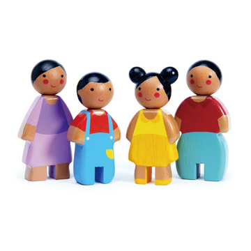 Wooden Dolls - The Sunny Family