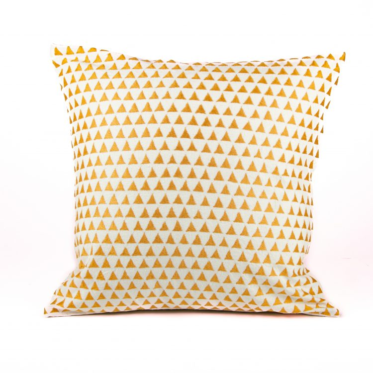 Cotton Cushion Cover - Mustard Hills