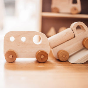 Wooden Vehicle Set - Natural