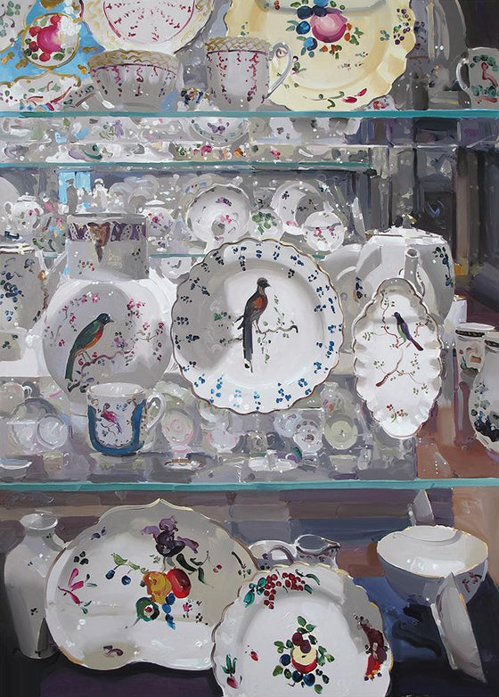 Large white Porcelain with Birds