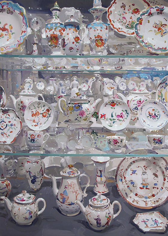 Large white Porcelain with Chinoiserie