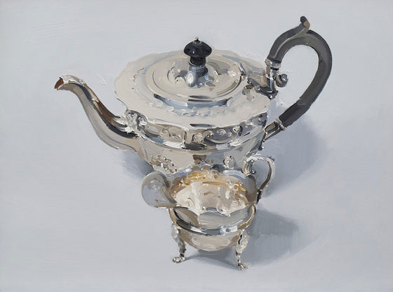 Silver Teapot and Creamer