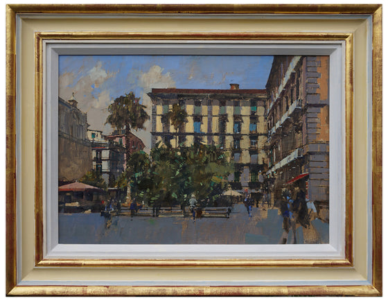 David Sawyer_Piazza Dante framed