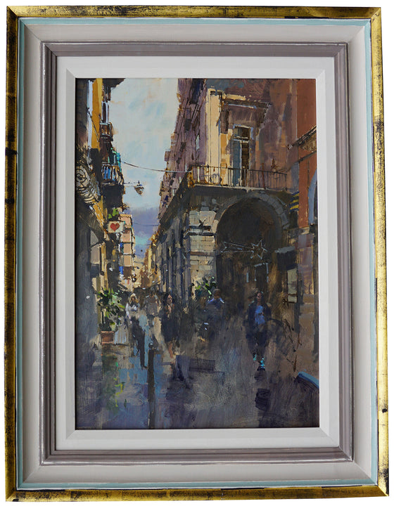 David Sawyer_The Heart & Star, Via del Tribunali, Naples framed