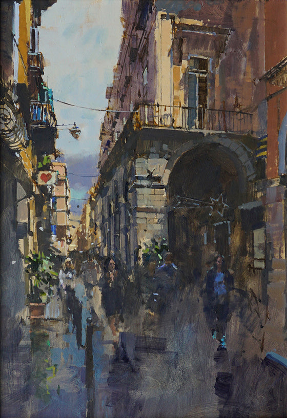 David Sawyer_The Heart & Star, Via del Tribunali, Naples unframed