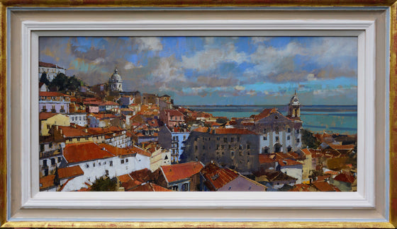 David Sawyer View over the Amalfa, Lisbon framed
