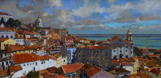 David Sawyer View over the Amalfa, Lisbon unframed
