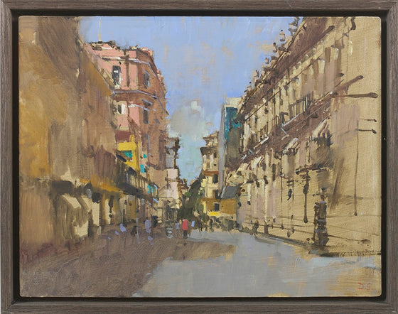 Obispo - View from Plaza de Armas, Havana (Oil Sketch)