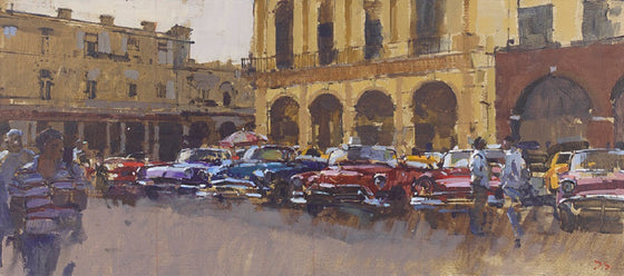 Taxi Rank - Parque Central, Havana