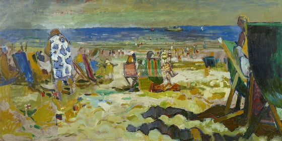 A day at the beach Edwin La Dell ARA
