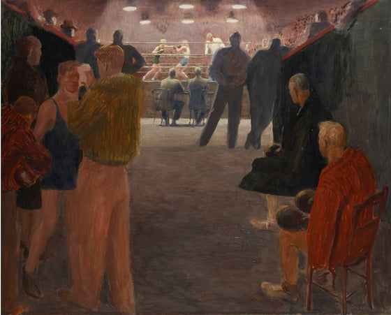 George Lagerstedt (1892-1982) Boxing match