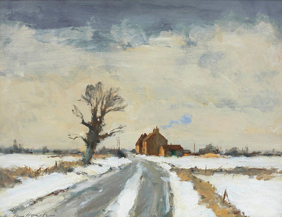 A Country Road After Snow, Near Fakenham, Norfolk
