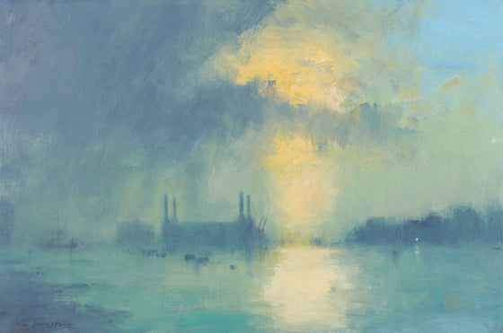 Battersea Power Station at Sundown by Scottish artist Ian Houston