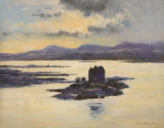 Castle Stalker in Evening Light (Loch Laich, Argyll)