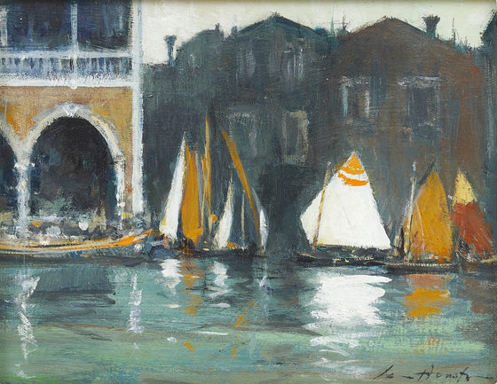 Colourful Sails by the Fish Market – Venice
