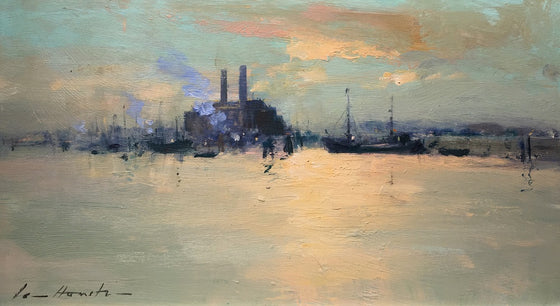 Evening Light on the Thames at Chelsea