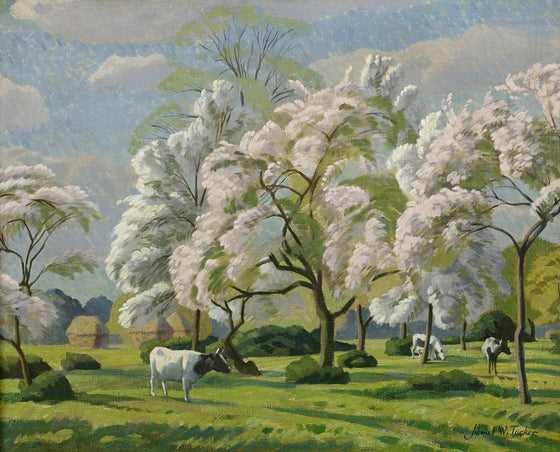 Cattle in Gloucestershire - James Walker Tucker (1898-1972)