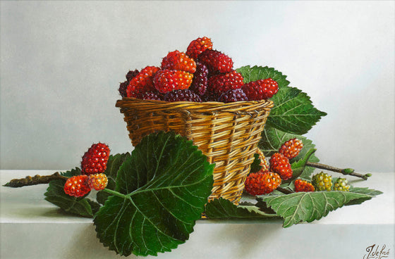 A Basket filled with Mulberries
