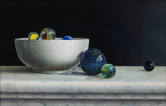 Composition with Marbles