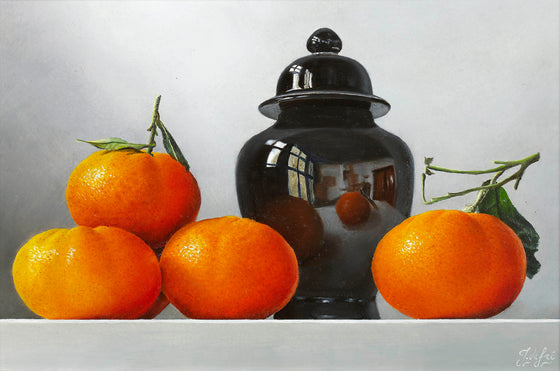 Tangerines in Reflection