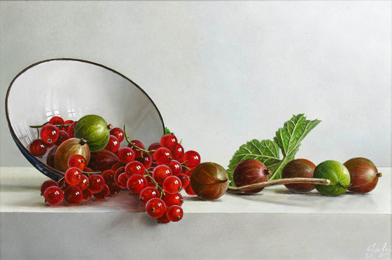 Tilted Bowl with Berries