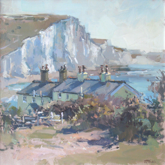 John Martin The Coastguard Cottages at Cuckmere