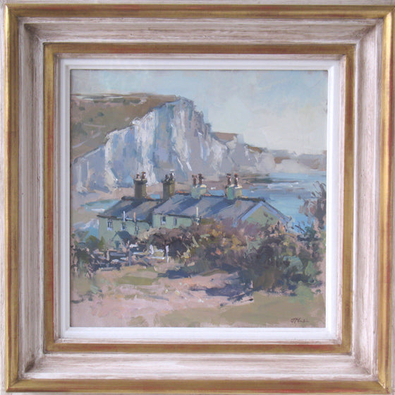 John Martin The Coastguard Cottages at Cuckmere framed