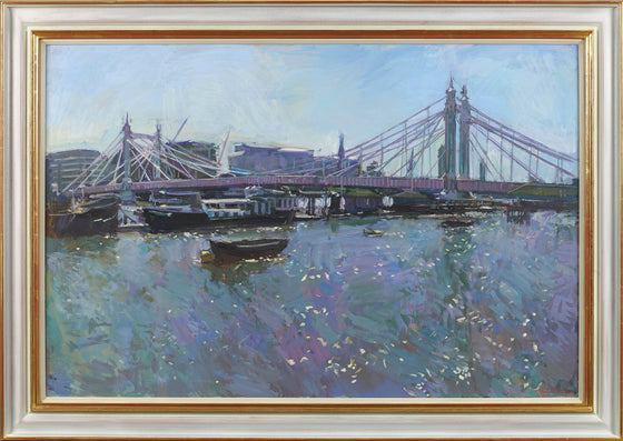 Albert Bridge, High Tide, High Summer