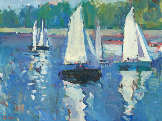 Dinghies on the River