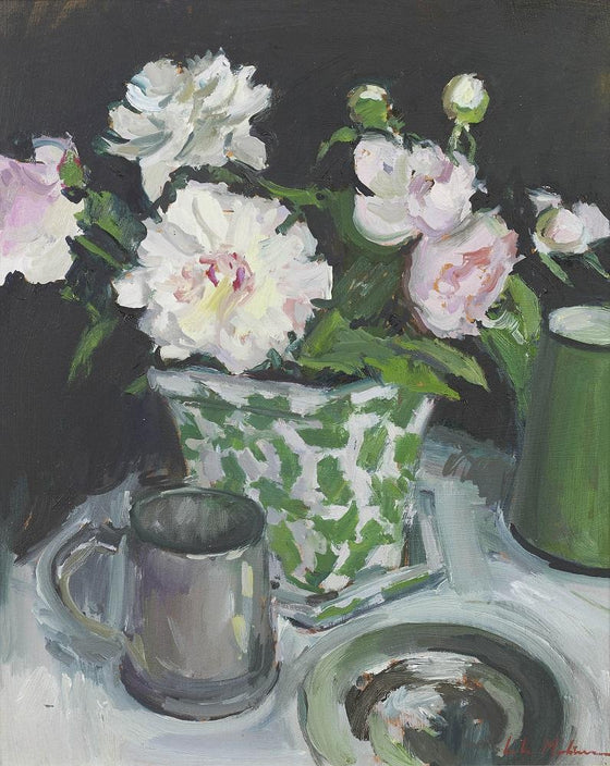 Peonies in a Cache Pot