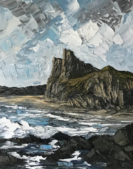 Welsh Artist Martin Llewellyn Painting Snowdonia in the style of Kyffin Williams, contemporary Welsh Art