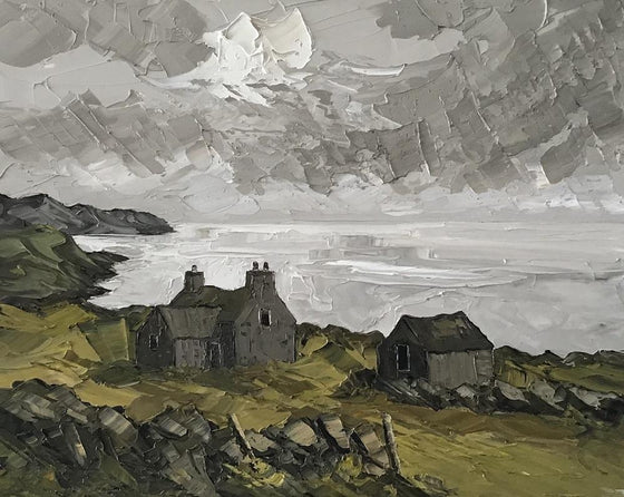 Old Farmhouse above Cardigan Bay