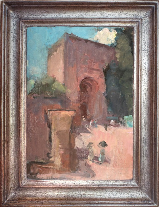 Martin Yeoman The Justice Gate, Alhambra with Japanese Ladies framed