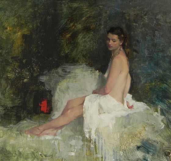 Michael Alford Seated Nude on the Diagonal