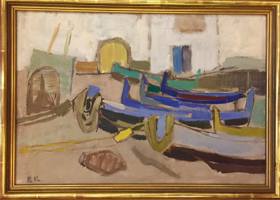 Boats on the shore (Framed)