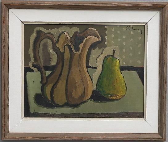 Jug and Pear (Framed)