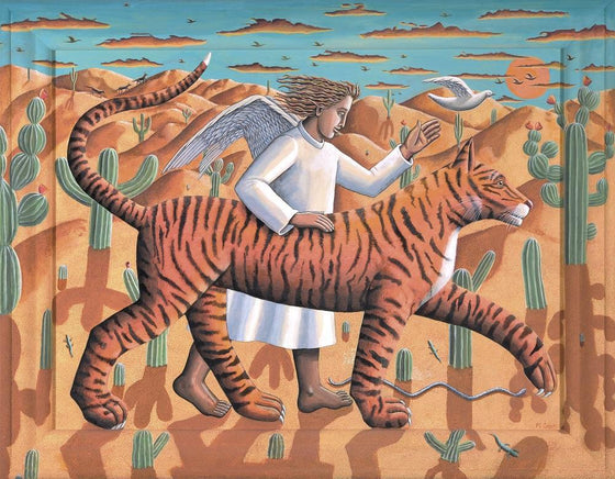 Tiger and Angel in the Desert